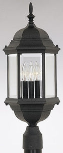 Designers Fountain Devonshire Outdoor Post Lantern Black 2986BK