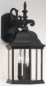 Designers Fountain Devonshire Outdoor Wall Lantern Black 2981BK