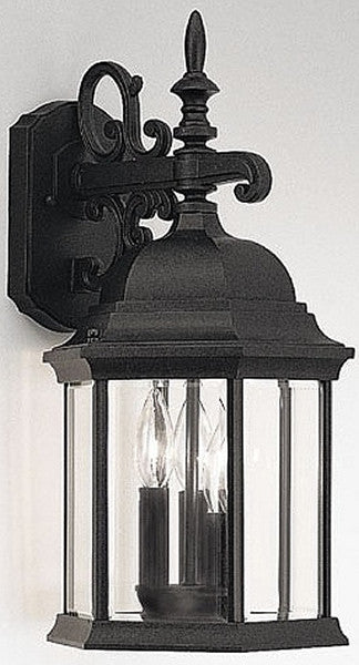 "19""h Devonshire Outdoor Wall Lantern Black"