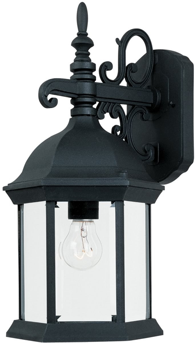 "17""H Devonshire 1-Light Wall Sconce Black"