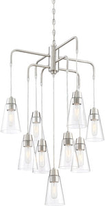 Designers Fountain Echo 9-Light Chandelier Satin Platinum 87889-SP