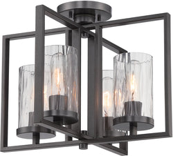 Designers Fountain 17 inchw Elements 4-Light Semi-Flush Charcoal 86511CHA