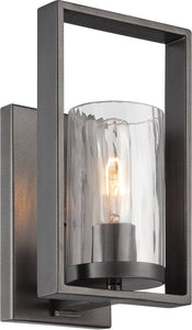 Designers Fountain 6 inchw Elements 1-Light Wall Lantern Charcoal 86501CHA
