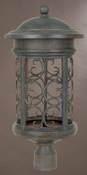 "23""h Ellington Dark Sky Outdoor Post Lantern Mediterranean Patina"