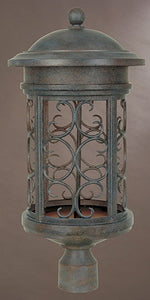 Designers Fountain Ellington Dark Sky Outdoor Post Lantern Mediterranean Patina 31136MP