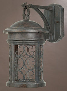 "13""h Ellington Dark Sky Outdoor Wall Lantern Mediterranean Patina"