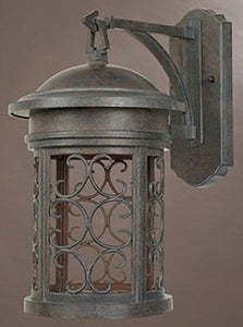 "16""h Ellington Dark Sky Outdoor Wall Lantern Mediterranean Patina"