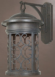 "20""h Ellington Dark Sky Outdoor Wall Lantern Mediterranean Patina"