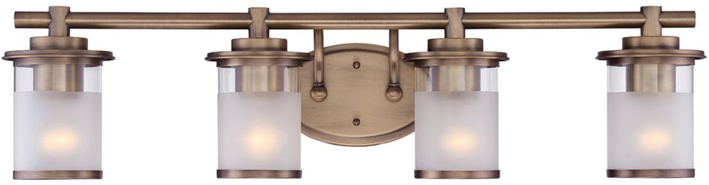 "32""W Essense 4-Light Bath Vanity Old Satin Brass"