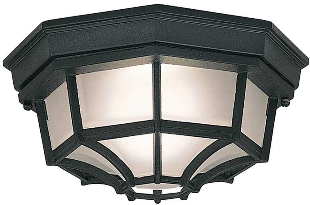 "11""W 1-Light Flush Mount Black"