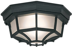 Designers Fountain 1-Light Flush Mount Black 2067-BK