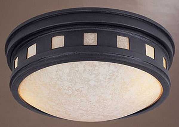 "13""w 2-Light Flush Mount Oil Rubbed Bronze"