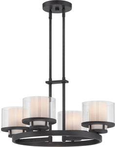 Designers Fountain Fusion 4-Light Chandelier Biscayne Bronze 86184-BBR