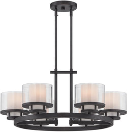 Designers Fountain Fusion 6-Light Chandelier Biscayne Bronze 86186-BBR