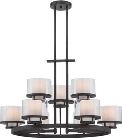 Designers Fountain Fusion 9-Light Chandelier Biscayne Bronze 86189-BBR