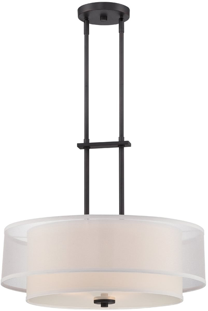 "22""W Fusion 3-Light Pendant Biscayne Bronze"