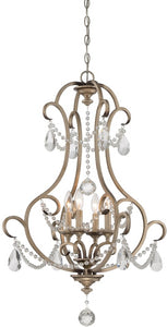 Designers Fountain Gala 4-Light Chandelier Argent Silver 86054-ARS