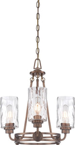 Designers Fountain 18 inchw Gramercy Park 3-Light Chandelier Old Satin Brass 87183OSB
