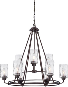 Designers Fountain Gramercy Park 9-Light Chandelier Old English Bronze 87189-OEB