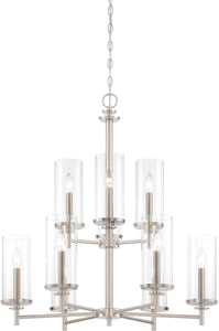 Designers Fountain Harlowe 9-Light Chandelier Satin Platinum 87289-SP