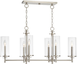 Designers Fountain Harlowe 6-Light Pendant Satin Platinum 87286-SP