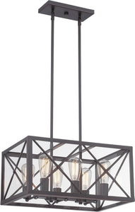 Designers Fountain 20 inchw High Line 6-Light Chandelier Satin Bronze 87386SB