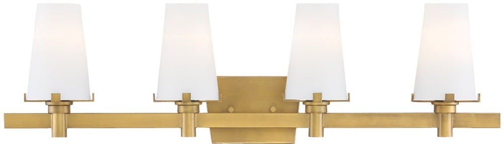 "32""W Hyde Park 4-Light Bath Vanity Vintage Gold"