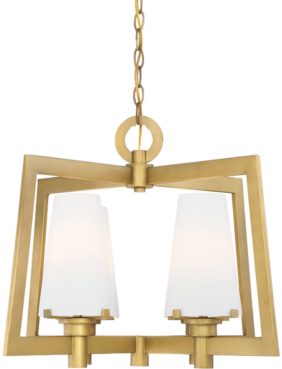 "24""W Hyde Park 4-Light Chandelier Vintage Gold"