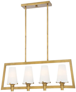 Hyde Park 4-Light Pendant Vintage Gold