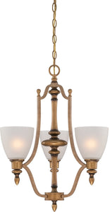 Designers Fountain Isla 3-Light Chandelier Aged Brass 85683-ABS