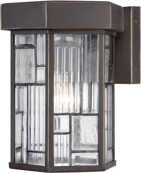 Designers Fountain Kingsley 1-Light Outdoor Wall Lantern Aged Bronze Patina 32121ABP