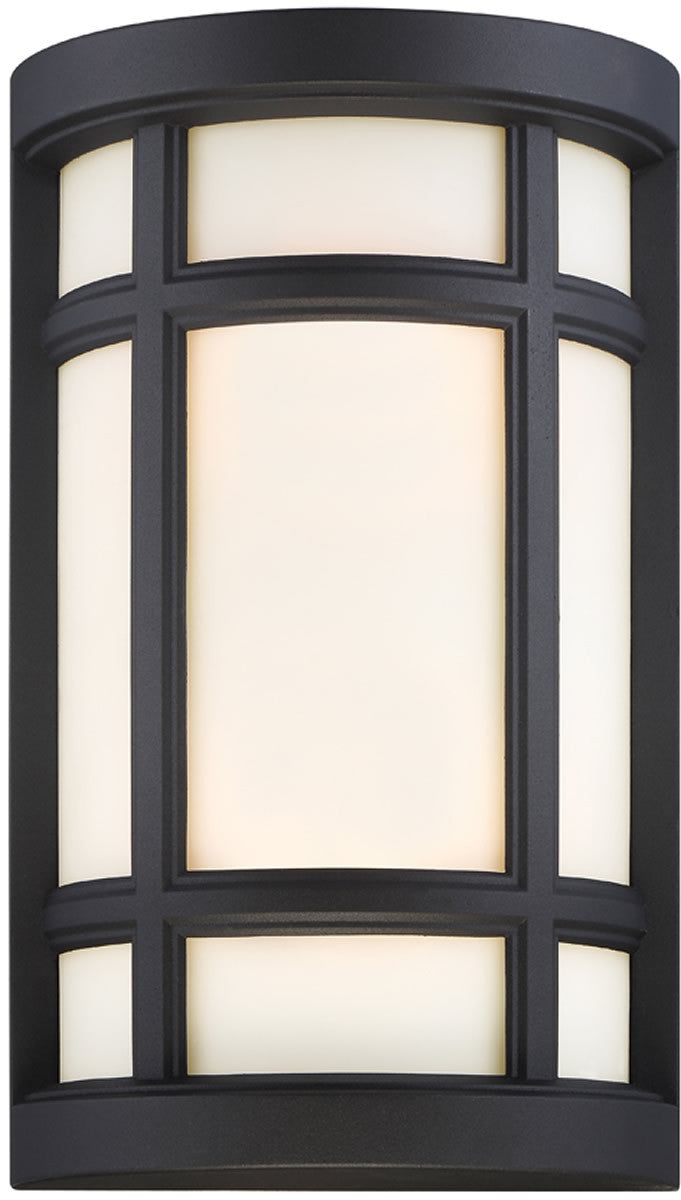 "8""W Logan Square 2-Light Wall Sconce Black"