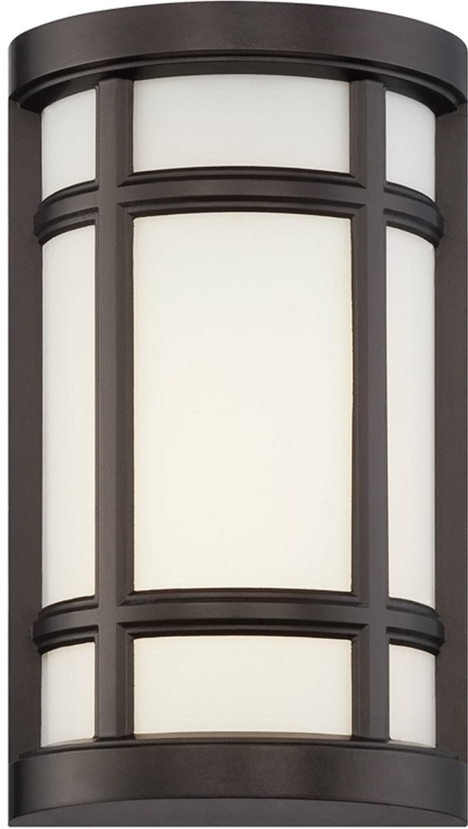 "8""W Logan Square -Light Wall Sconce Burnished Bronze"