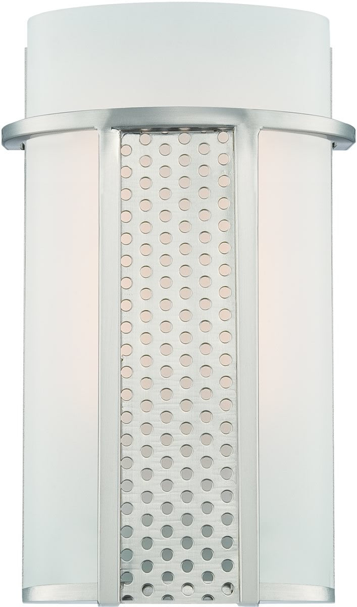 "5""W Lucern LED Wall Sconce Satin Platinum"