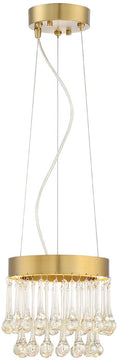"8""W Lucienne -Light Pendant Luxor Gold"