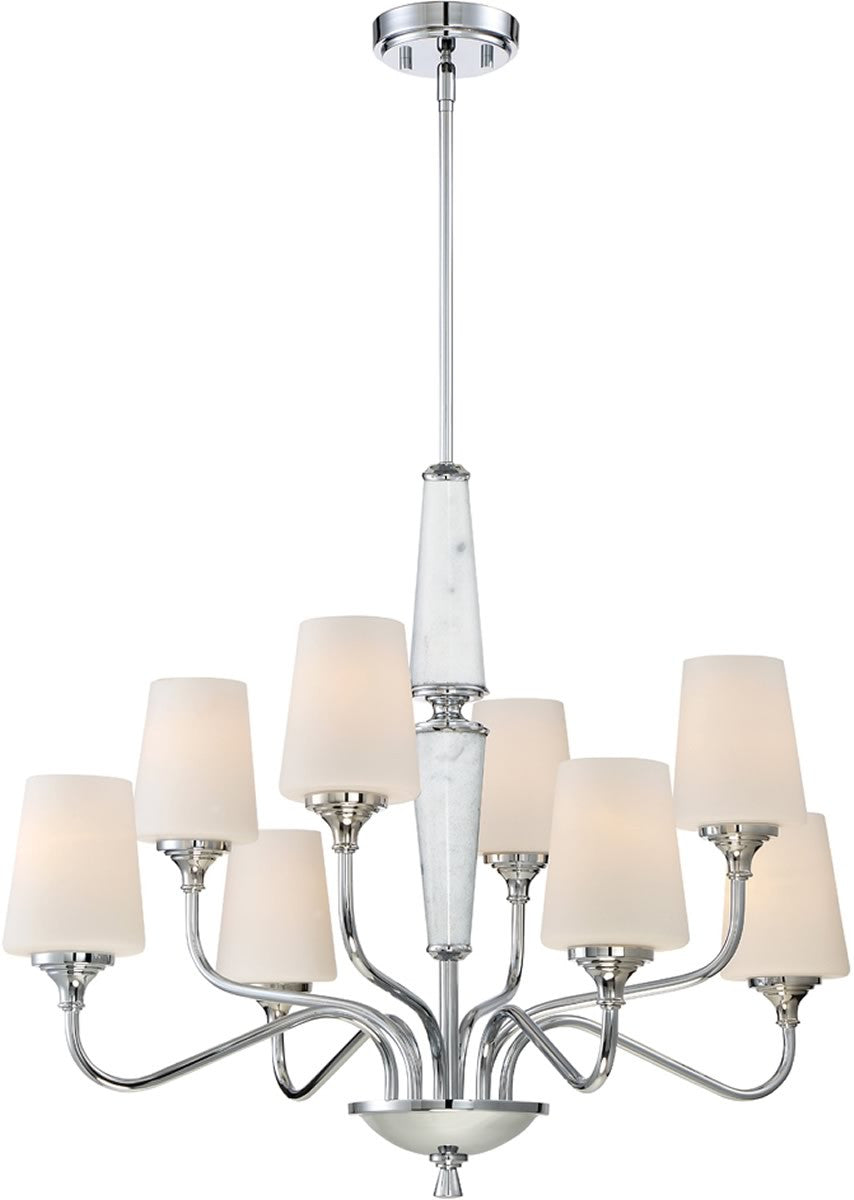 "31""W Lusso 8-Light Chandelier Chrome"