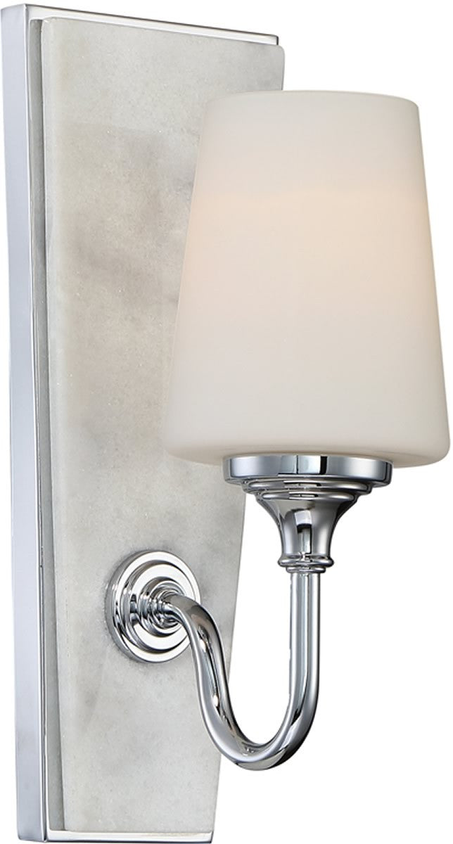 "5""W Lusso 1-Light Wall Sconce Chrome"