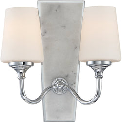 Lusso 2-Light Wall Sconce Chrome