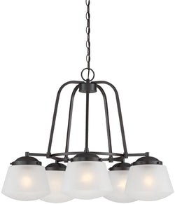 Mason 5-Light Chandelier Satin Bronze