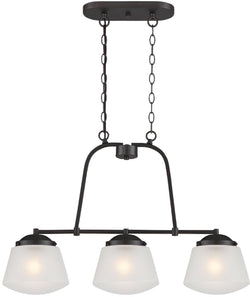 Designers Fountain Mason 3-Light Pendant Satin Bronze 87738-SB