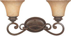 Designers Fountain Mendocino 2-Light Bathroom Light Forged Sienna 81802FSN