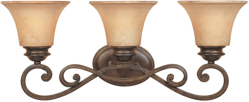 "24""W Mendocino 3-Light Bathroom Light Forged Sienna"