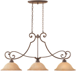 "45""w Mendocino 3-Light Island Pendant Forged Sienna"