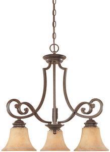 "23""w Mendocino 3-Light Chandelier Forged Sienna"