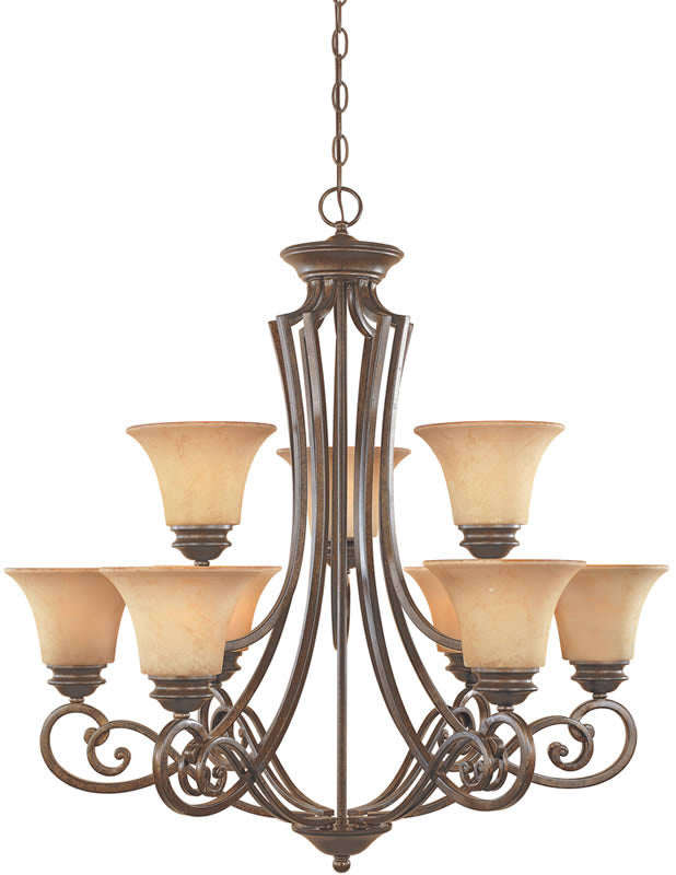 Designers fountain mendocino chandelier forged 81889 fsn lampsusa 31w mendocino 9 light chandelier forged sienna aloadofball Choice Image