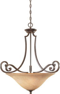 "26""w Mendocino 3-Light Pendant Forged Sienna"
