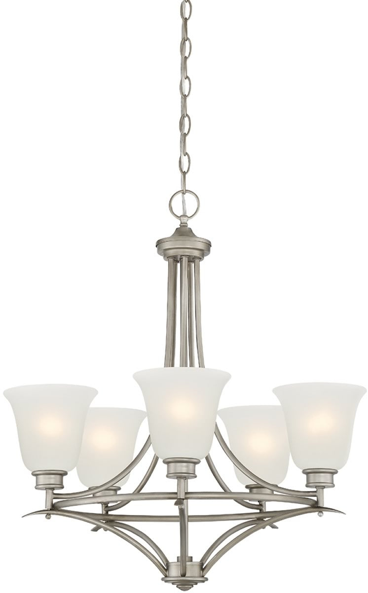 "24""W Montego 5-Light Chandelier Matte Pewter"