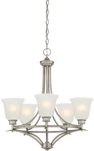 Designers Fountain Montego 5-Light Chandelier Matte Pewter 96985-MTP
