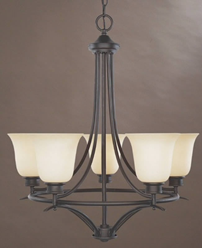 "23""w Montego 5-Light Chandelier Oil Rubbed Bronze"