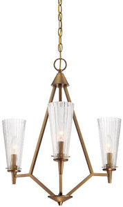 Designers Fountain Montelena 3-Light Chandelier Old Satin Brass 88983-OSB